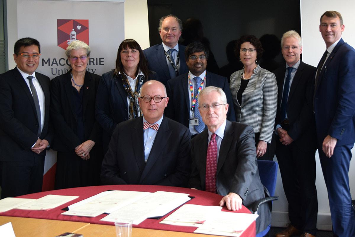 The Macquarie University delegation at the University of Bristol in September 2017