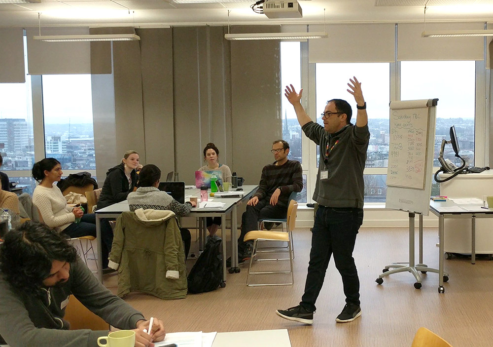 Dr Paul Spencer at December's Thesis Boot Camp