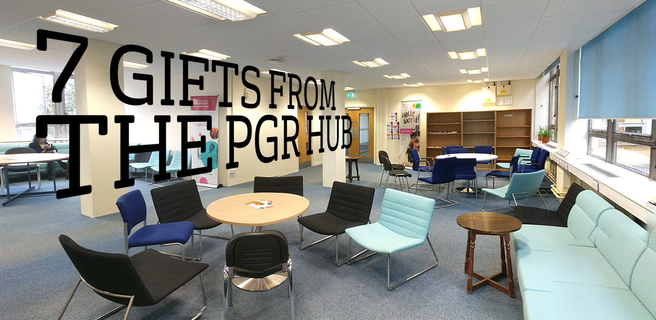 The PGR Hub with floating text: '7 gifts from the PGR Hub'