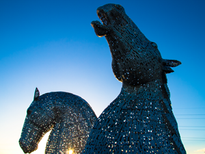 Sculpture of two horses - The Kelpies