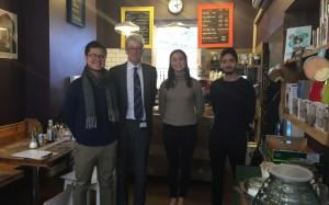 Professor Robinson with Leland Chong, Maria Mullerat-Pigem and Pouya Zohrabpour