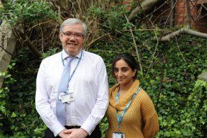 Dr Nigel Robb and Roshni Rabheru