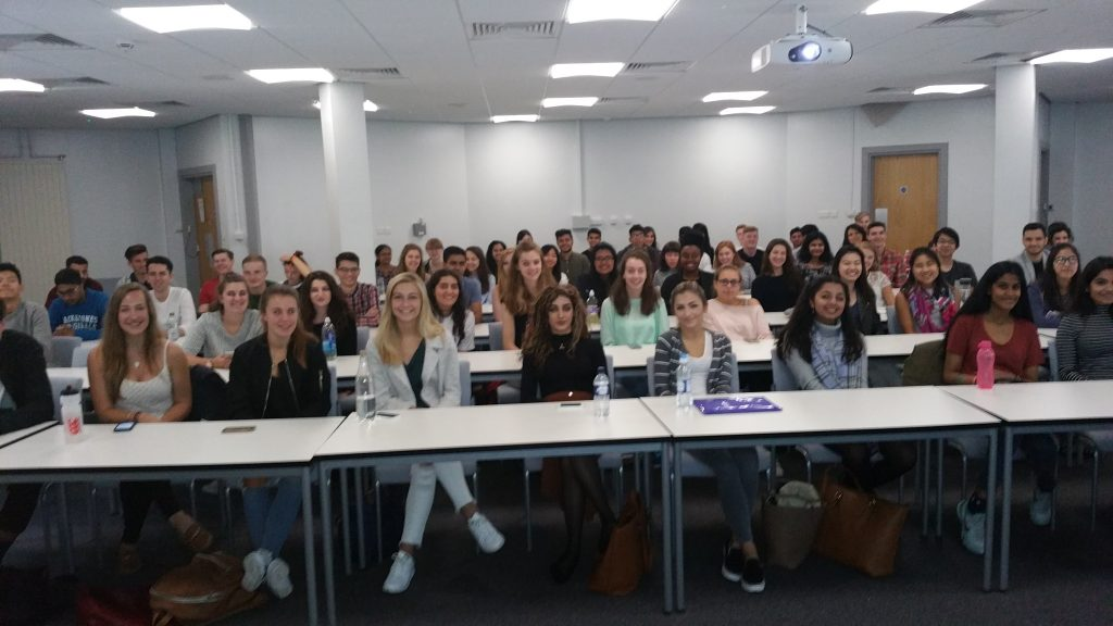 The new Year 1 in Chapter House Lecture Theatre