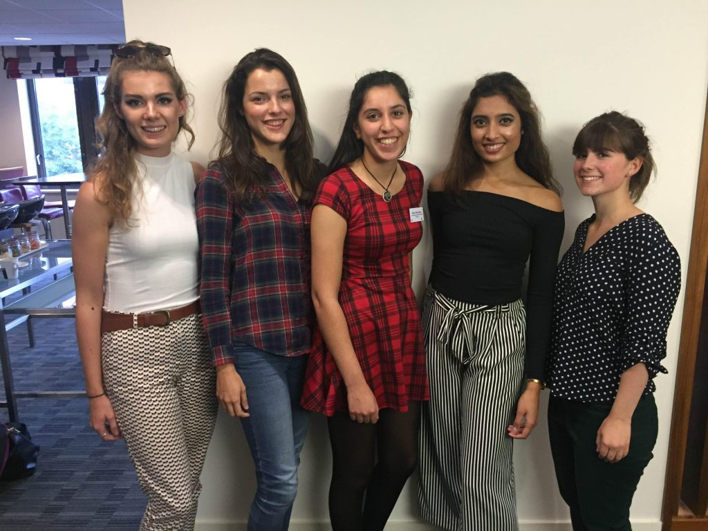 NICE Champions (from left to right) - Claudia, Daniella, Maya, Nisha and Rachel