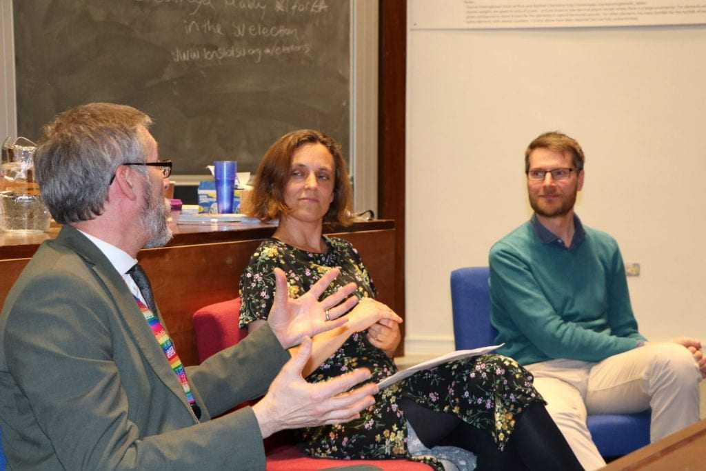 Martin Wiles (Head of Sustainability for University of Bristol), Nina Boeger (Law School, University of Bristol) and Chris Dunford (Head of Sustainable Futures, We The Curious)