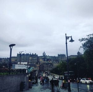 Edinburgh in the rain