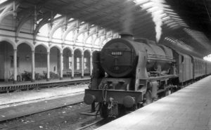 © Colin G. Maggs, Ex LMS 46100 'Royal Scot' rests in platform 13 at Bristol Temple Meads having arrived from the north in July 1961