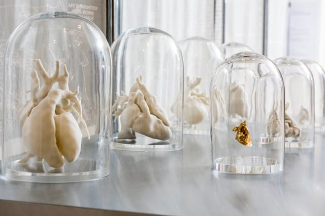 Heart models in jars