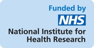 Image with the following text: Funded by NHS National Institute for Health Research