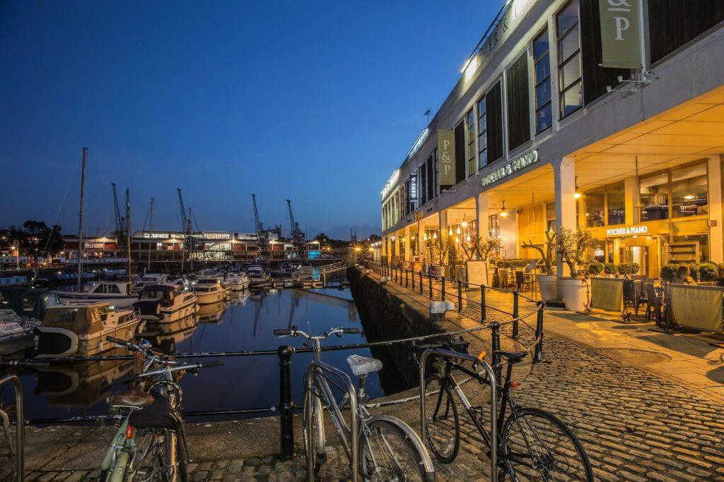 Scene of Bristol harbour