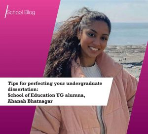 School of Education recent UG alumna Ahanah Bhatnagar
