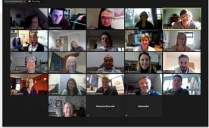 Screenshot from Zoom meeting