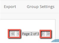 Screenshot showing the navigation arrows beneath Group Settings