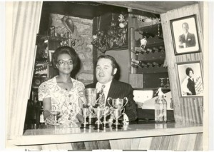 Tony and Lalel Bullimore (owners of The Bamboo Club) (courtesy of the Bamboo Club Collection, Bristol Record Office)