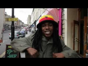 Rapper Buggsy in his 'Bris Ting' music video