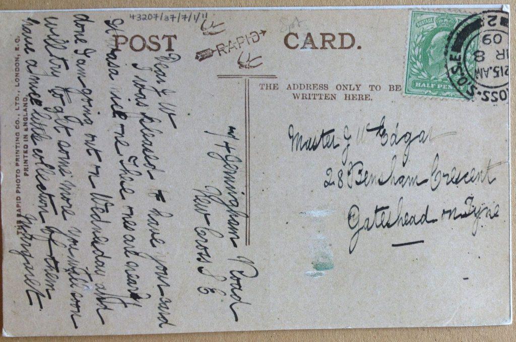 1 zoe's postcard front