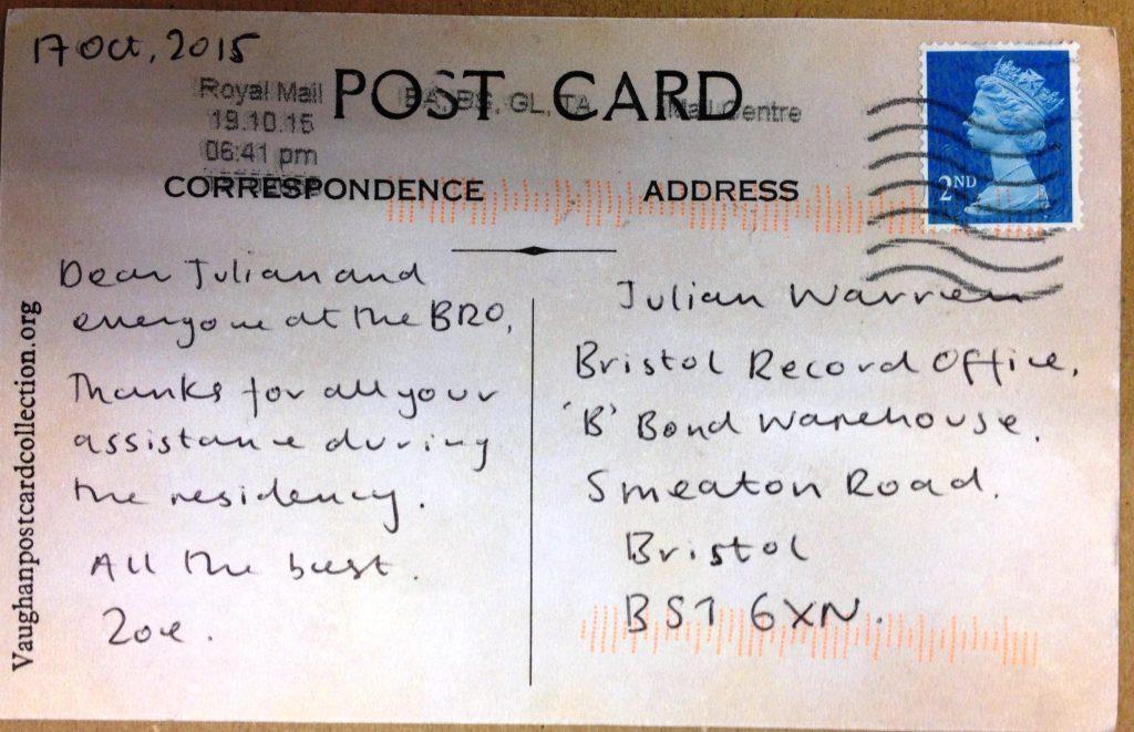 2 zoe's postcard back