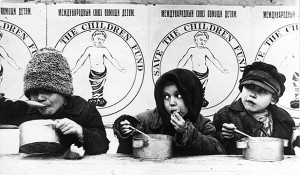 Russian Famine Victims at Save the Children Kitchens, 1921.