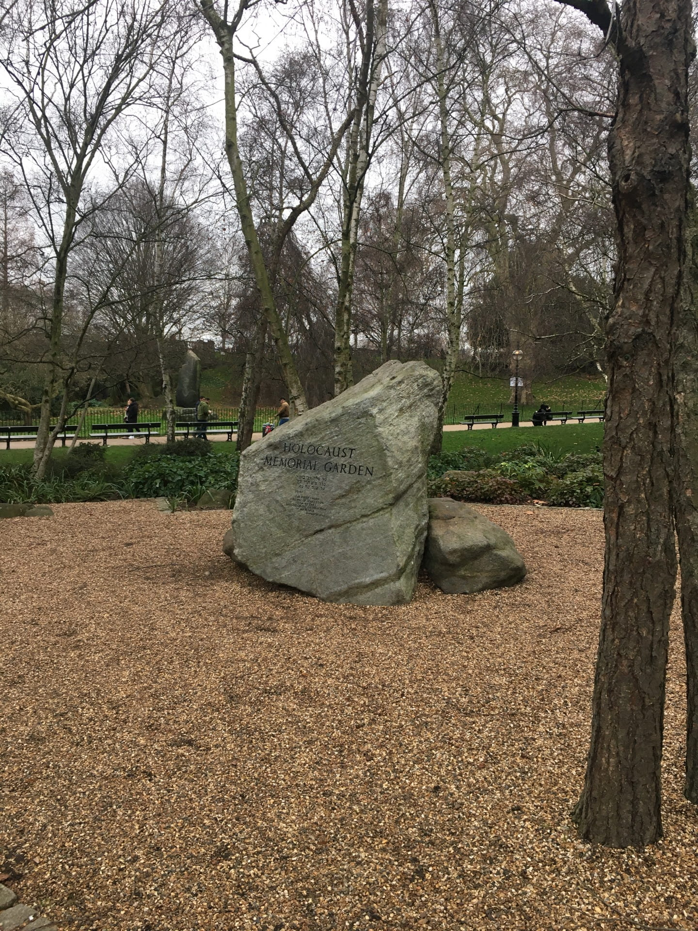 A picture of the Holocaust memorial garden in Hyde Park