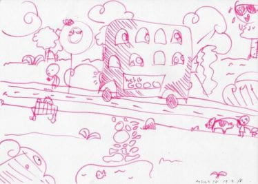 Childs drawing of a bus