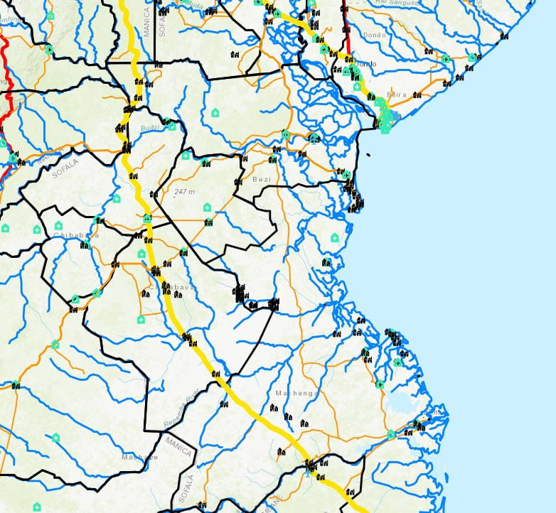 example picture of produced flood data map