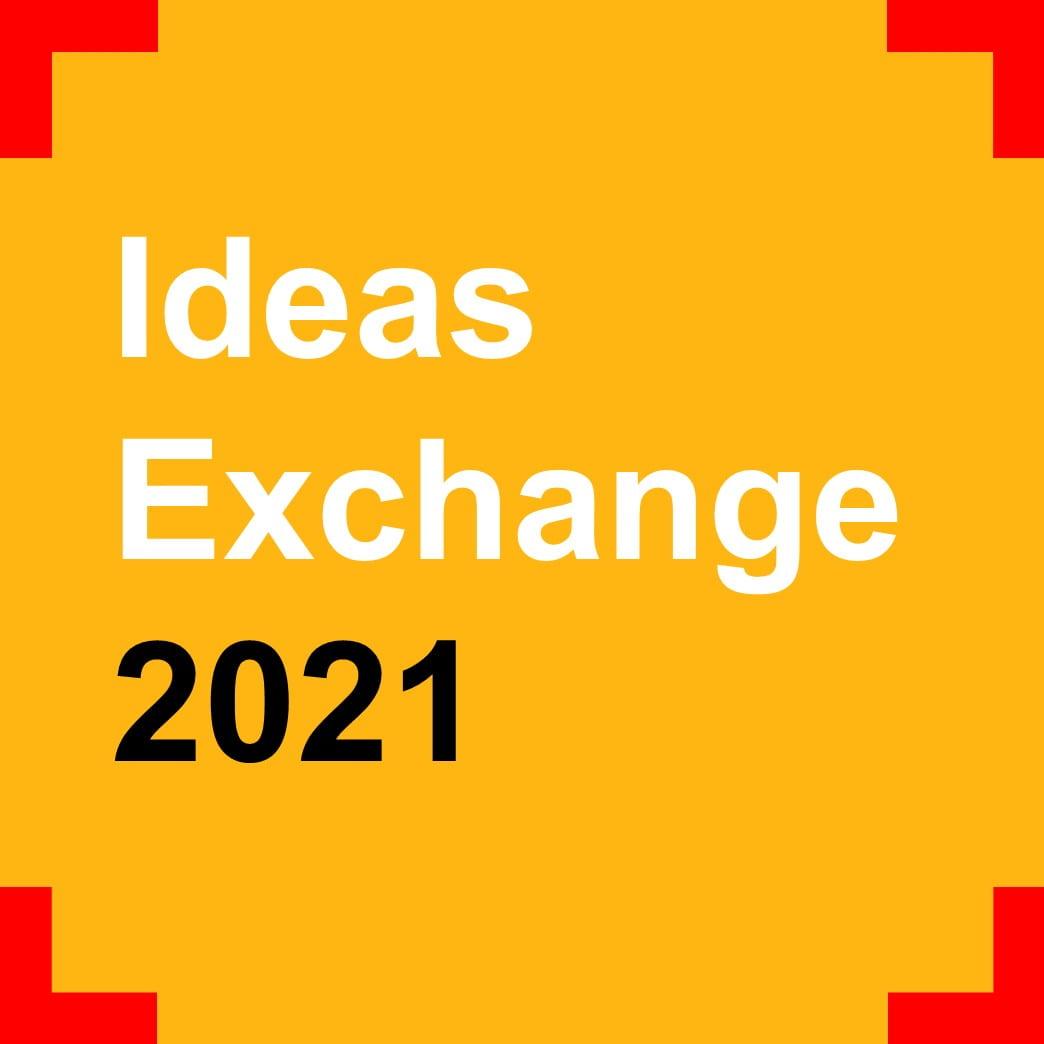 """Text """"Ideas Exchange 2021"""""""