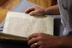 A medieval manuscript from the Monastic Library and Archives at Downside Abbey