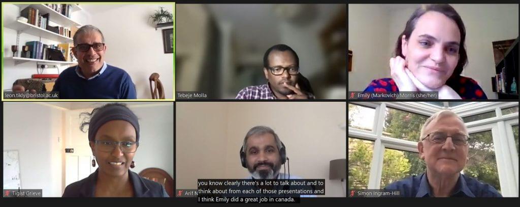 Screenshot of panellists