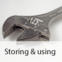 storing and using data