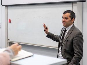 Federico providing lecture