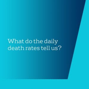 What do the daily death rates tell us?