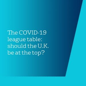 The COVID-19 league table: should the UK be at the top?