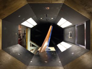 An example of wind tunnel testing