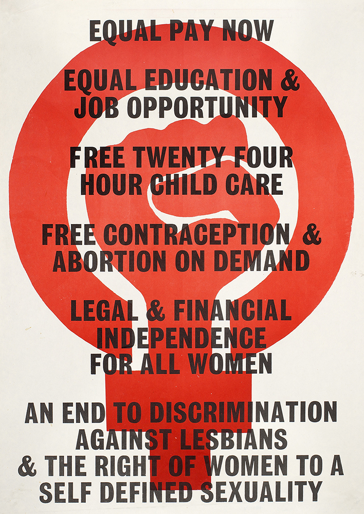 Rights demand poster, 1970s. Feminist Archive South. DM2123.