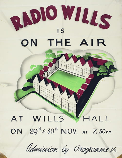 Poster about Radio Wills. DM1447/2.