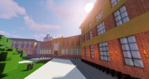 The University of Bristol Queen's Building on Minecraft