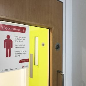 Coronavirus measures for toilets in Engineering