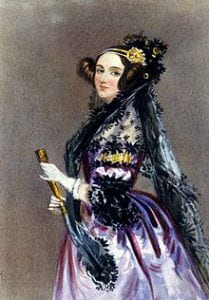 Watercolour portrait of Ada King, Countess of Lovelace, circa 1840, possibly by Alfred Edward Chalon