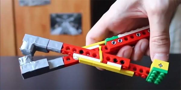 Covid-safe LEGO grabber in hand