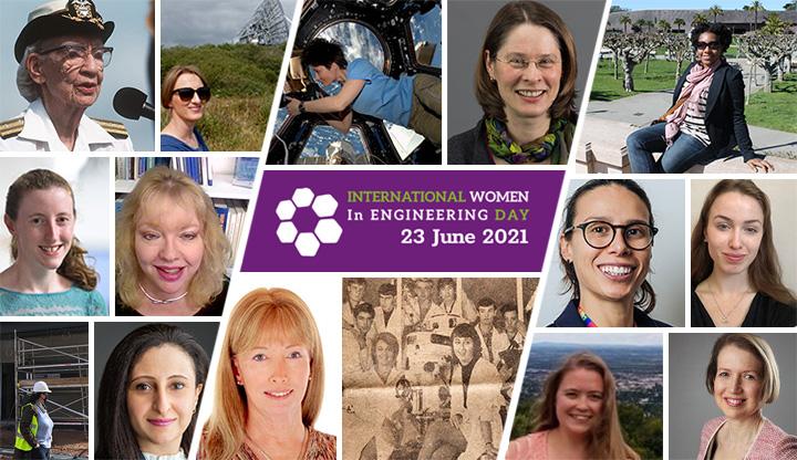 Montage of female engineering heroes