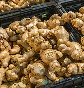 A crate of ginger