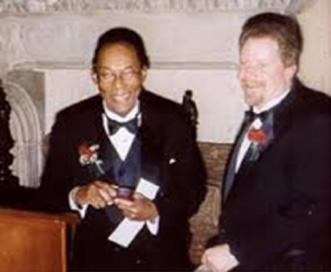 Dr. Rockcliffe St. J. Manley receiving the Anselme Payen award