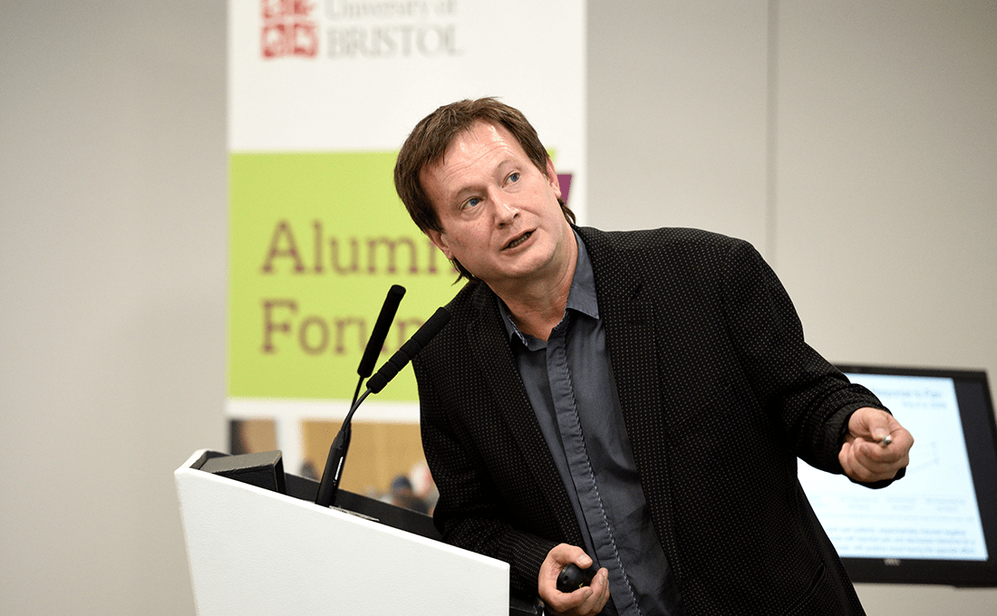 Professor Bruce Hood delivers a lecture