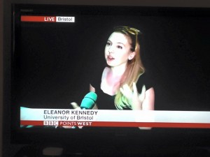 Elenaor talking to the BBC