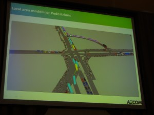 Transport modelling at the micro-scale (image courtesy of AECOM)
