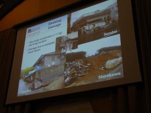 Shaking damage during the Tohuku 2011 event