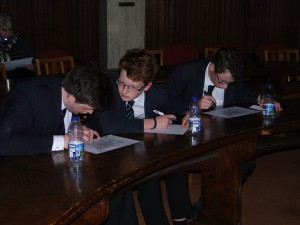 Clifton College team checking grid refernces
