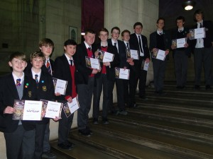 All the competitors in the Bath and Bristol Worldwise Quiz final, March 2015
