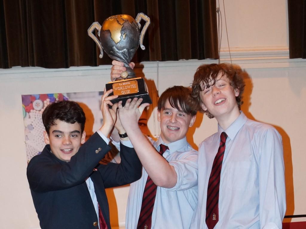 Winners!  (L-R: Ben Owen, Sam Pearson and  Jake Shopland)