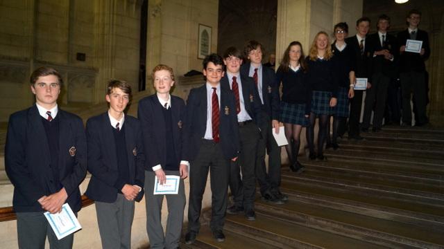 Teams (from L to R): King Edward's Bath, Bristol Grammar, Redland High , Beechen Cliff